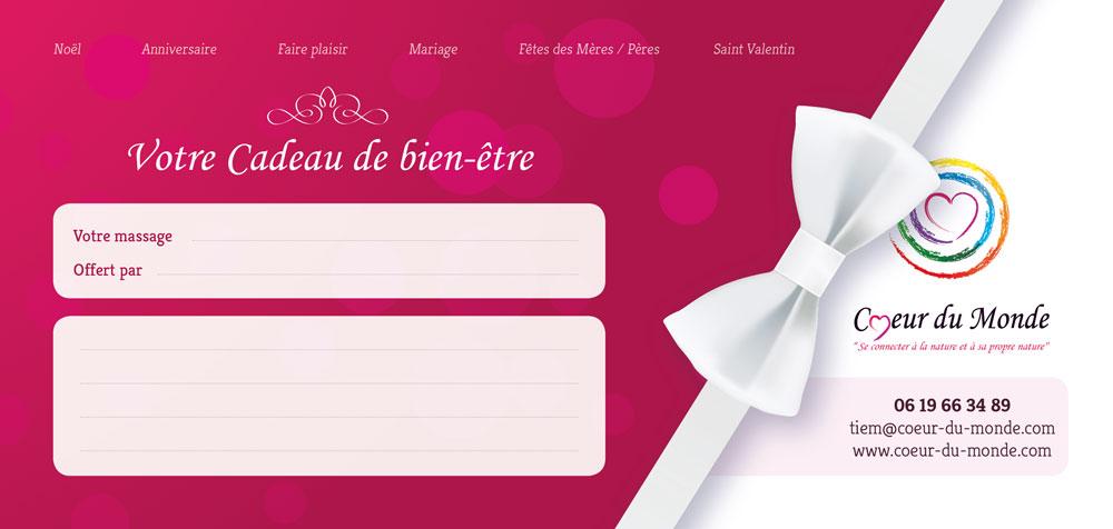 Très Bon cadeau massage - Coeur Du Monde HM41